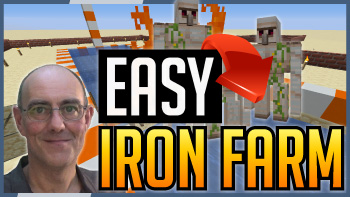 Minecraft fast and easy iron farm